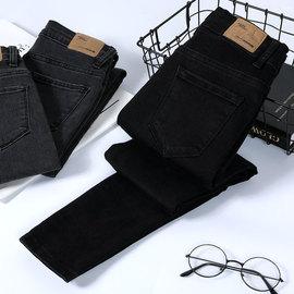 黑色牛仔裤女2020春季新款加长高腰韩版弹力显瘦修身小脚紧身铅笔