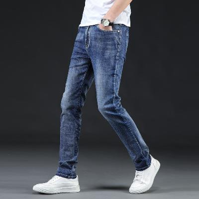 Mens slim fit jeans mens casual Korean stretch large size small straight jeans pants fashion 313