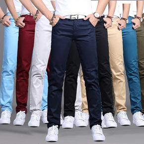 夏季休闲裤男士直筒修身商务西裤男宽松黑色裤子男宽松长裤薄款潮