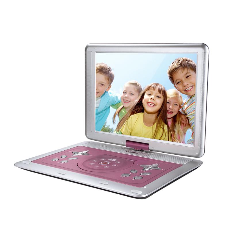 夏新移动dvd影碟机新款vcd家用学生便携式读cd放evd一体的光盘光碟播放器儿童蝶片小型高清dvd播放机带小电视