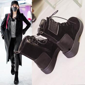 马丁靴女英伦风学生韩版森系秋冬女鞋磨砂平