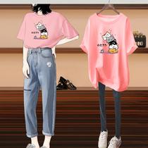 胖mm短袖t恤女宽松大码女装2020年新款夏季加肥加大韩版上衣体恤