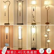 新中式落地灯简约复古茶楼立式台灯现代餐厅客厅卧室落地灯具