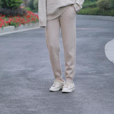 很多人在等的Xodgz超人气纯山羊绒锥形休闲裤加厚版1490