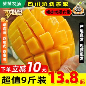 四川攀枝花凯特芒果新鲜苹果芒甜吉禄特大孕妇应季水果5斤装