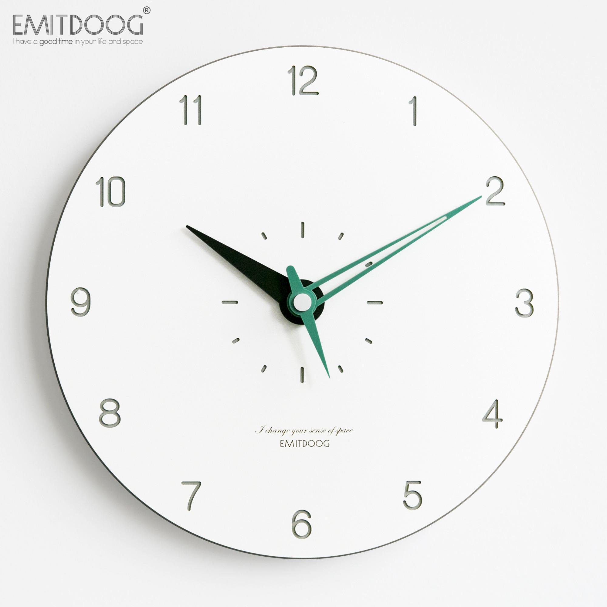 EMITDOOG挂钟客厅个性创意时尚潮流家用卧室静音时钟北欧现代钟表