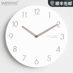 EMITDOOG钟表挂钟客厅创意现代简约北欧时钟挂墙家用卧室静音挂表