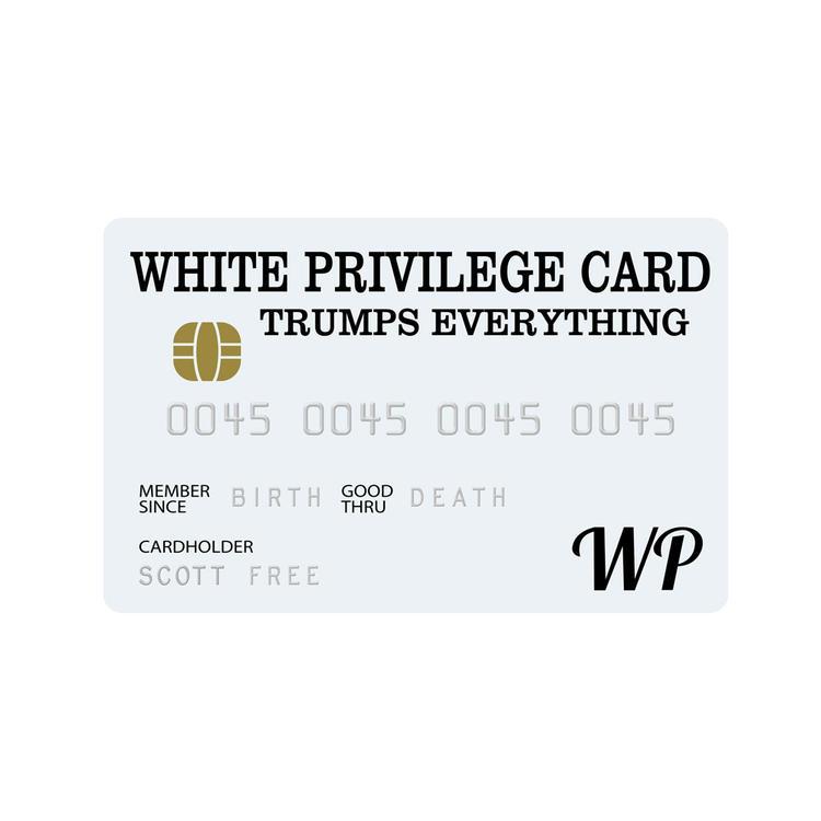 White Privilege Card Credit Card Trumps Everything白色特权卡
