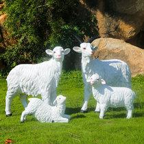 户外玻璃钢仿真大型动物山羊模型雕塑园林景观花园草坪装饰品摆件