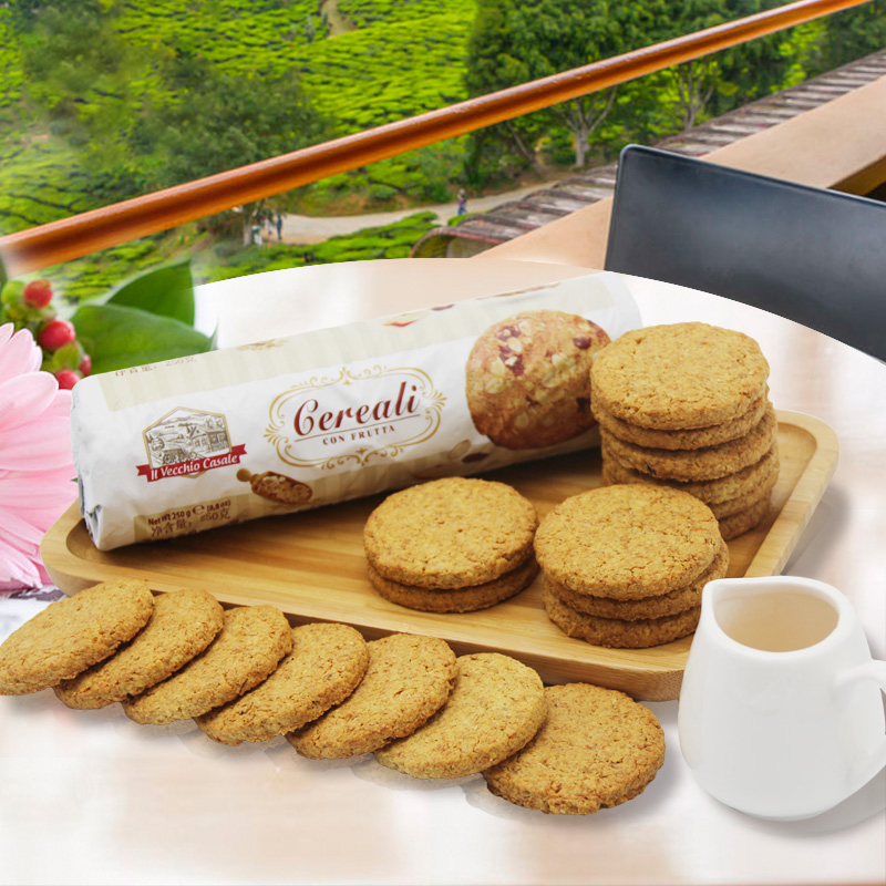 Italy imported Victor raisin oatmeal biscuit 250gx3 whole wheat fitness skimmed coarse grain for full meal