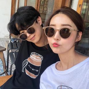 GM韓版潮2020圓框女士墨鏡ins奶茶色網紅太陽鏡小框抖音新款眼鏡