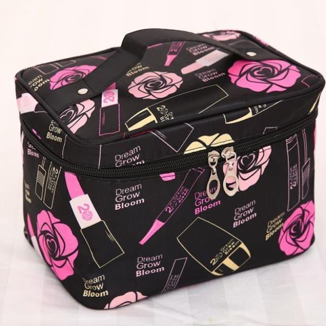 长方形纹绣布袋箱式笔袋工具箱实用化妆包运动洗漱包健身沐浴透气