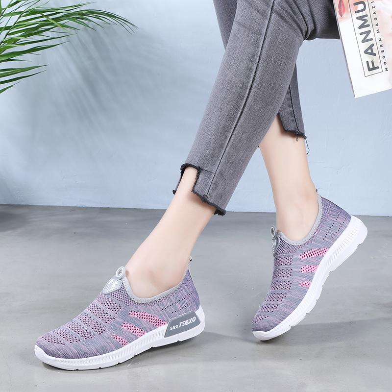 夏季老北京布鞋女老人网鞋妈妈中老年运动网眼软底透气防滑健步鞋