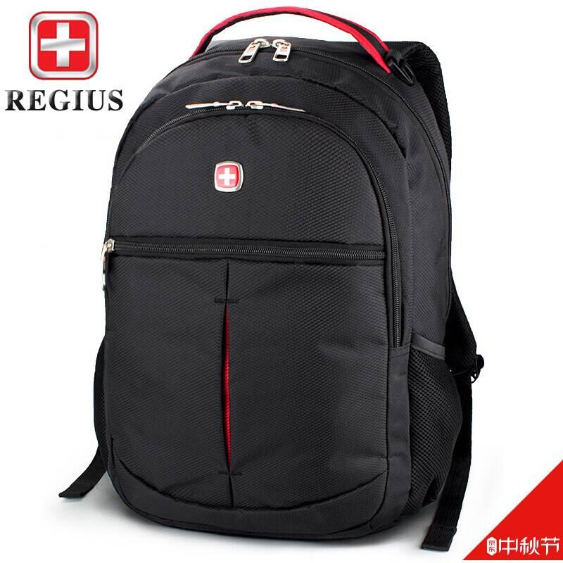 Regius backpack for men and women 14 inch Laptop Bag schoolbag classic black