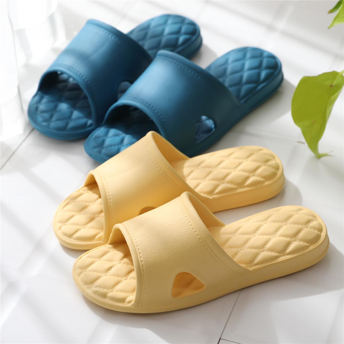 Slippers mens summer indoor lovers home home non slip soft bottom bath slippers womens summer cool slippers