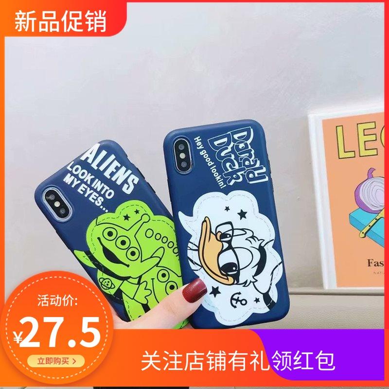 适用iPhoneXs Max手机壳苹果8可爱卡通三眼仔眼镜唐老鸭IMD软壳6S