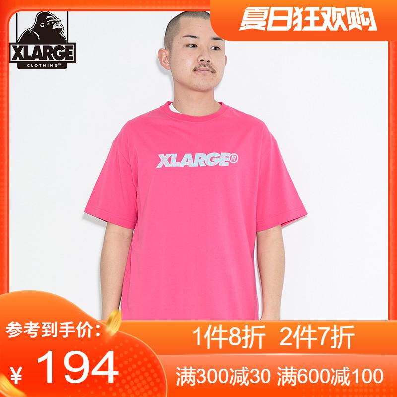 XLARGE 潮流男装夏季新品简约休闲宽松字母印花圆领短袖T恤男士潮