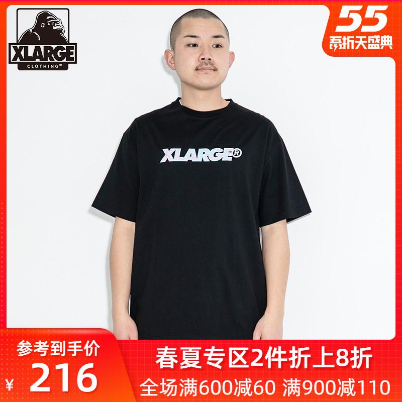 XLARGE 潮流男裝夏季新品簡約休閑寬松字母印花圓領短袖T恤男士潮