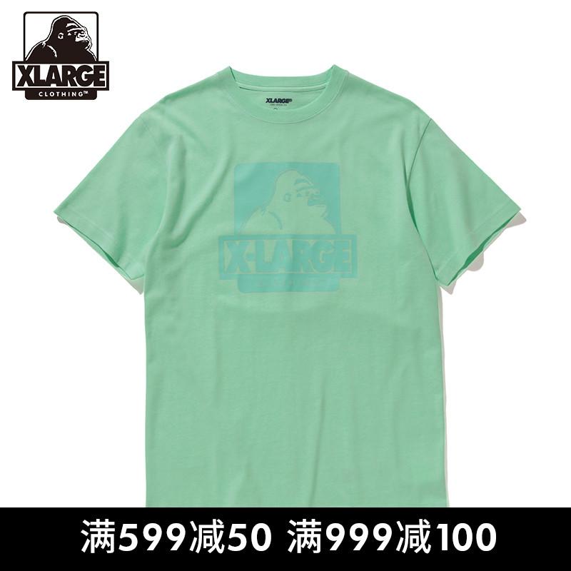 XLARGE 潮流男装 潮流LOGO?#21450;?#21360;花 棉质短袖T恤上衣