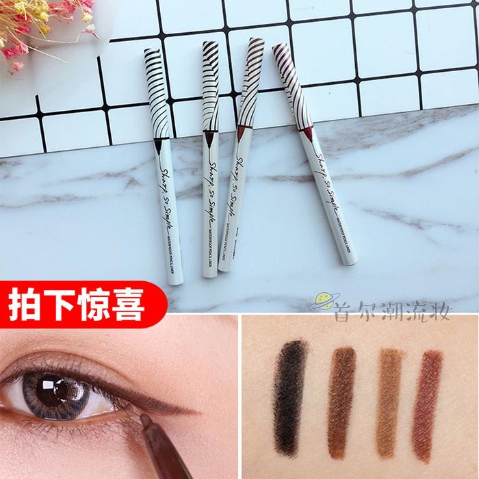 韩国CLIO珂莱欧眼线胶笔眼线笔防水极细黑色棕色不晕染持久软头图片