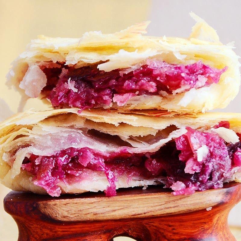 正宗鲜花饼秘制玫瑰味月饼礼盒装早餐糕点点心月饼蛋黄零食