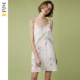 PJM冰丝吊带睡裙女夏性感蕾丝睡衣裙子薄款可爱少女很仙的家居服图片