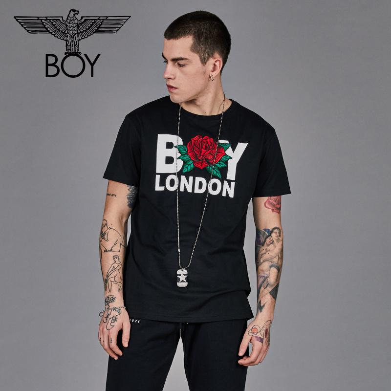 boy london 字母印花圆领2019春季新款短袖T恤情侣款B191NCT20102