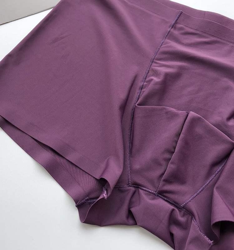 紫色浪漫情侣内裤 夏季薄款冰丝无痕情侣款内裤2条装