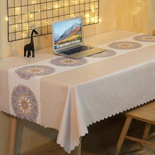 桌旗桌布防水防油免洗网红款ins餐桌布布艺北欧风长方形茶几台布图片