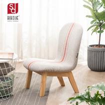 简域喂奶小哺乳北欧家用布艺椅子矮凳换鞋凳实木凳子矮款靠背椅