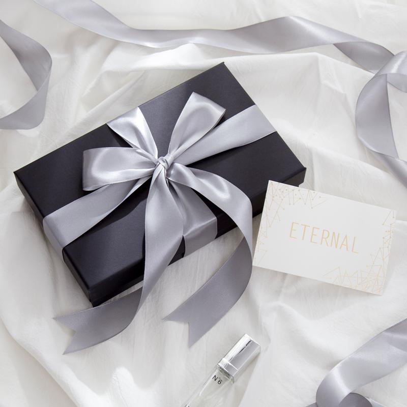 黑色礼品盒子精美韩版简约创意大号生日口红礼盒包装盒空盒礼物盒