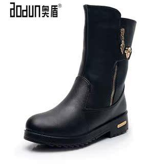 2019冬季新款中老年短靴女加绒加厚保暖棉鞋中筒女靴平跟妈妈棉靴
