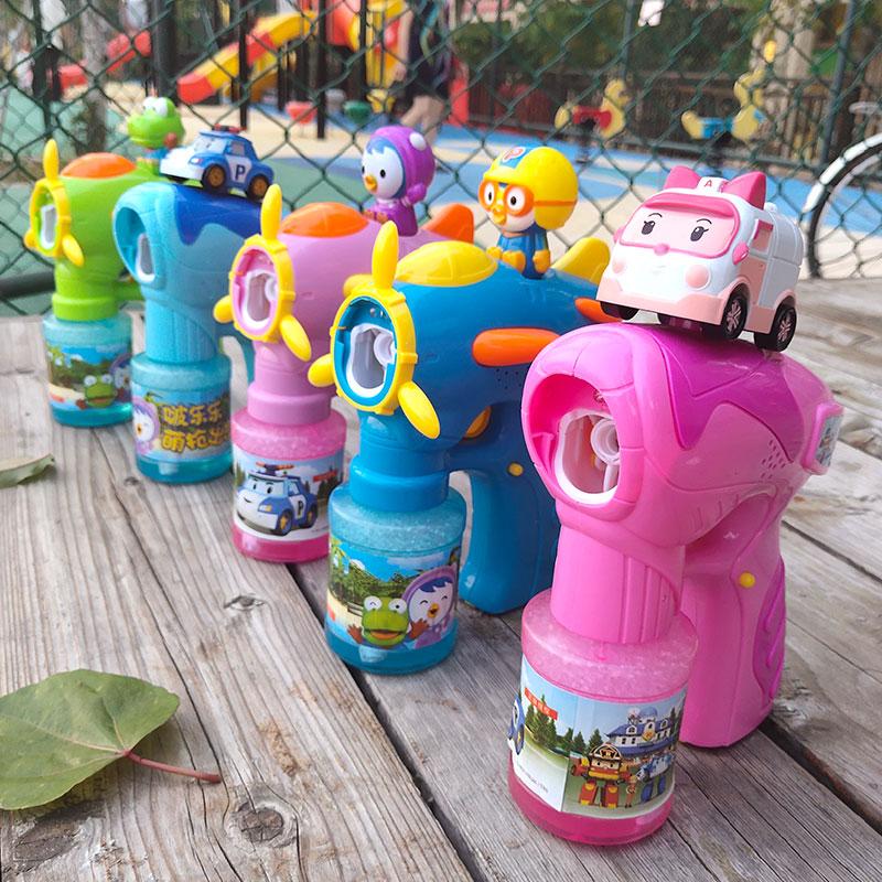 泡泡机儿童 全自动泡泡水补充液不漏水电动吹泡泡枪玩具抖音同款