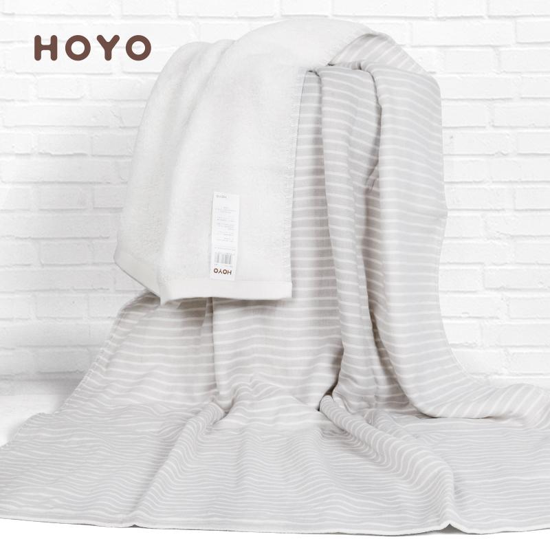 HOYO日本纯棉纱布浴巾裹巾婴儿大浴巾家用超软全棉吸水速干不掉毛