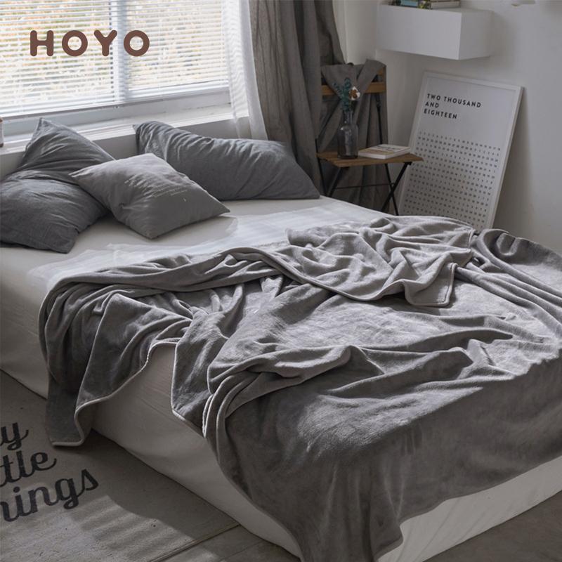 日本hoyo超柔保暖四季毯法兰绒毛毯质量怎么样