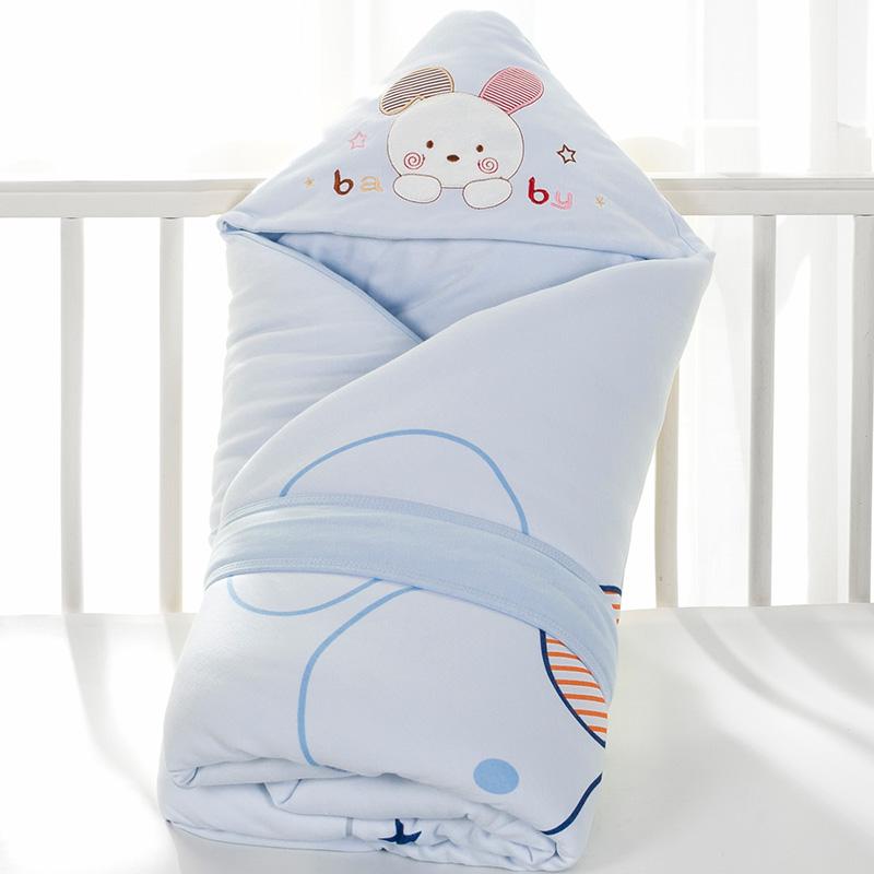 新生儿纯棉秋冬宝宝用品可脱胆抱被