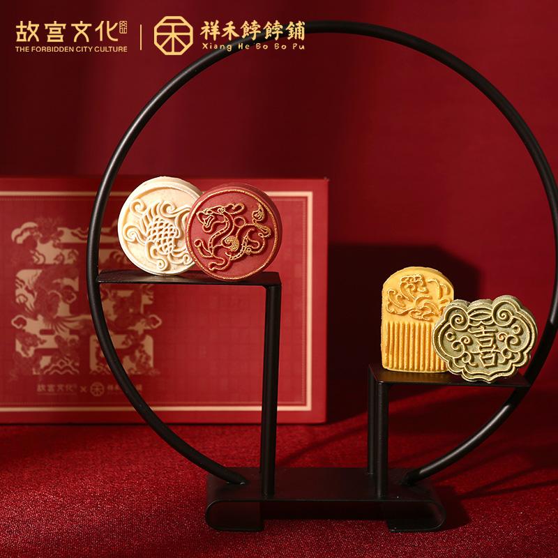 故宫文化|祥禾饽饽铺 紫禁和合喜饼龙凤呈祥 结婚糕点伴手礼盒