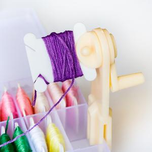绣线整理好帮手绕线家用快速绕线器赠送加厚塑料板十字绣工具