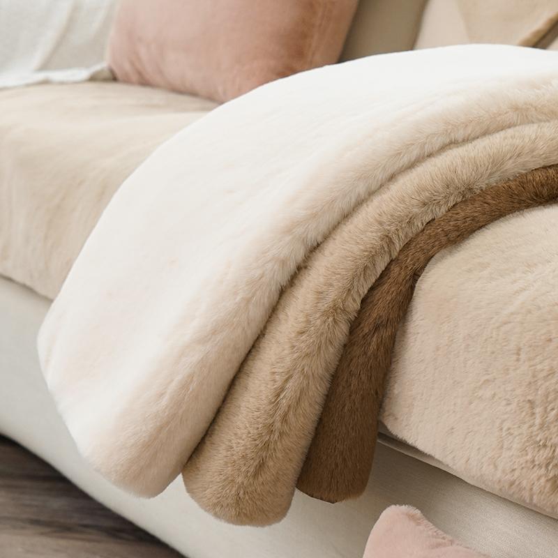 皮草加厚毛毛高档罩全包轻奢沙发垫