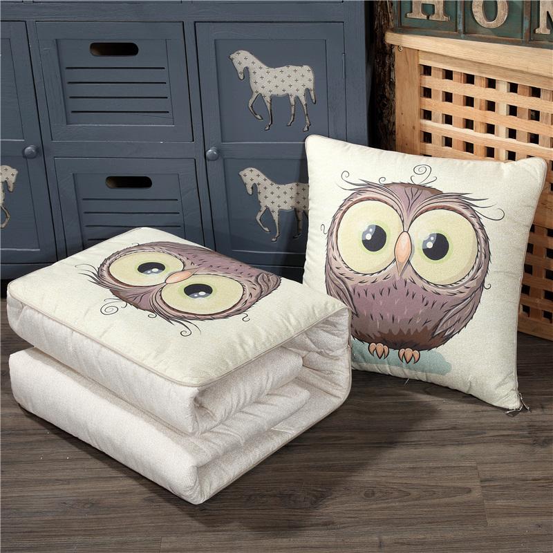 两用抱枕被折叠办公室沙发空调被满25元可用5元优惠券