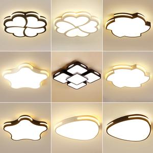 超薄led吸顶灯简约现代创意个性主卧室灯温馨浪漫儿童灯北欧灯具
