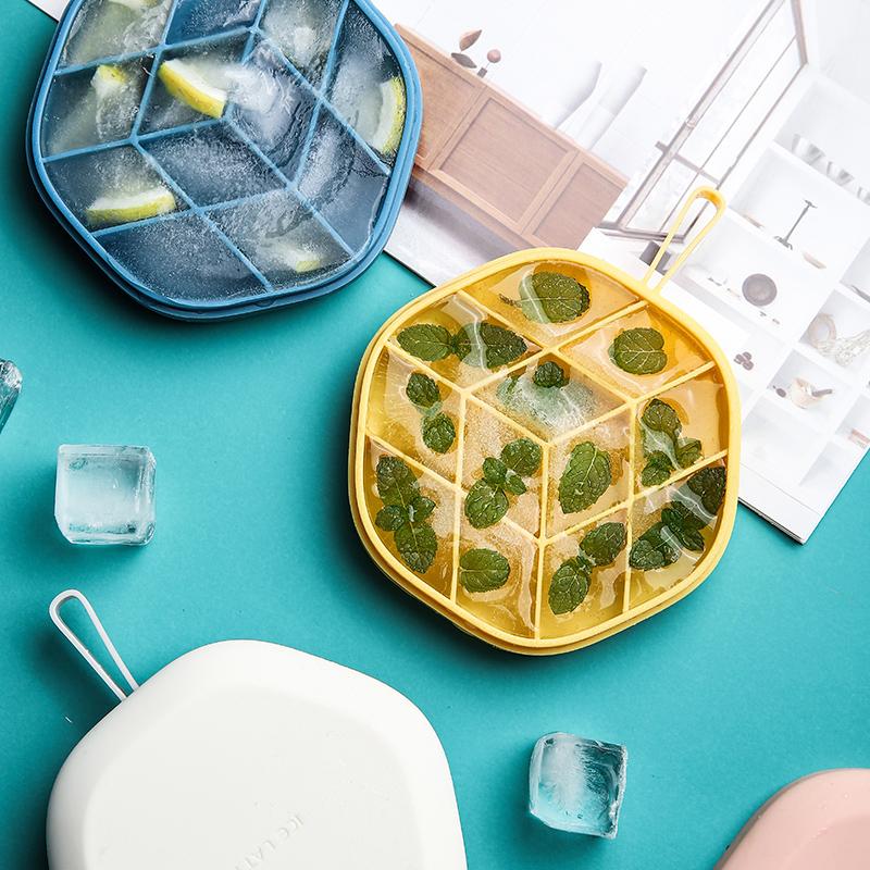(用1元券)舍里家用硅胶带盖自制辅食制冰盒