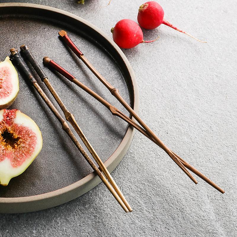 11月21日最新优惠舍里竹筷子家用天然创意个性尖头铁木筷子楠竹筷日式茶针筷子
