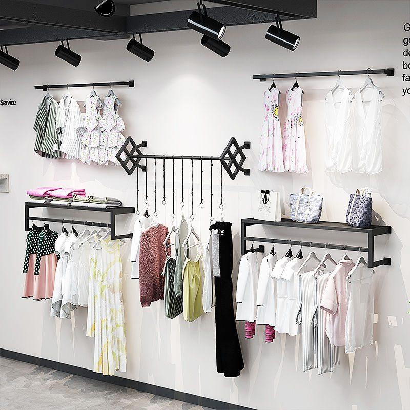 吊衣架挂板式展示架服装店货架衣架(非品牌)