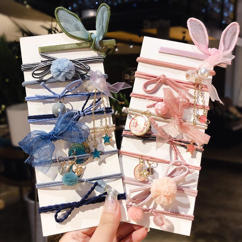 (用9.9元券)韩版网红头绳ins发绳手链两用头饰女可爱头花发圈扎头发皮筋发饰