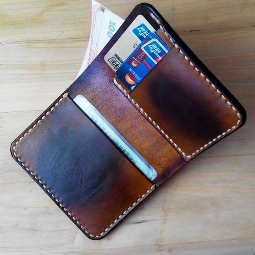 Leather retro short wallet mens manual vegetable tanned leather wallet top leather drivers license wallet Retro