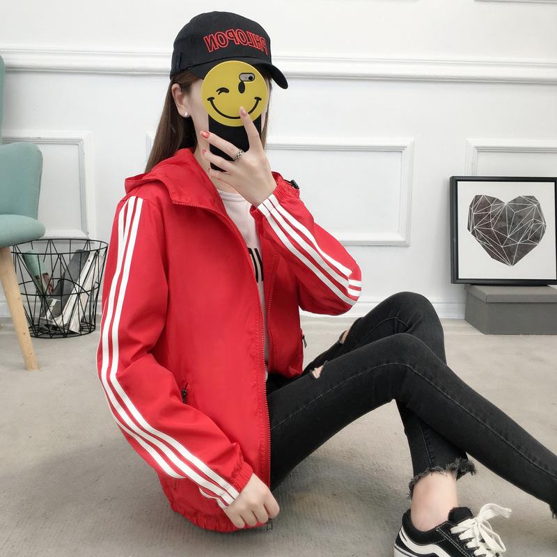情侣bf短外套春秋韩版学生款运动上衣2018新款女装夹克宽松风衣潮