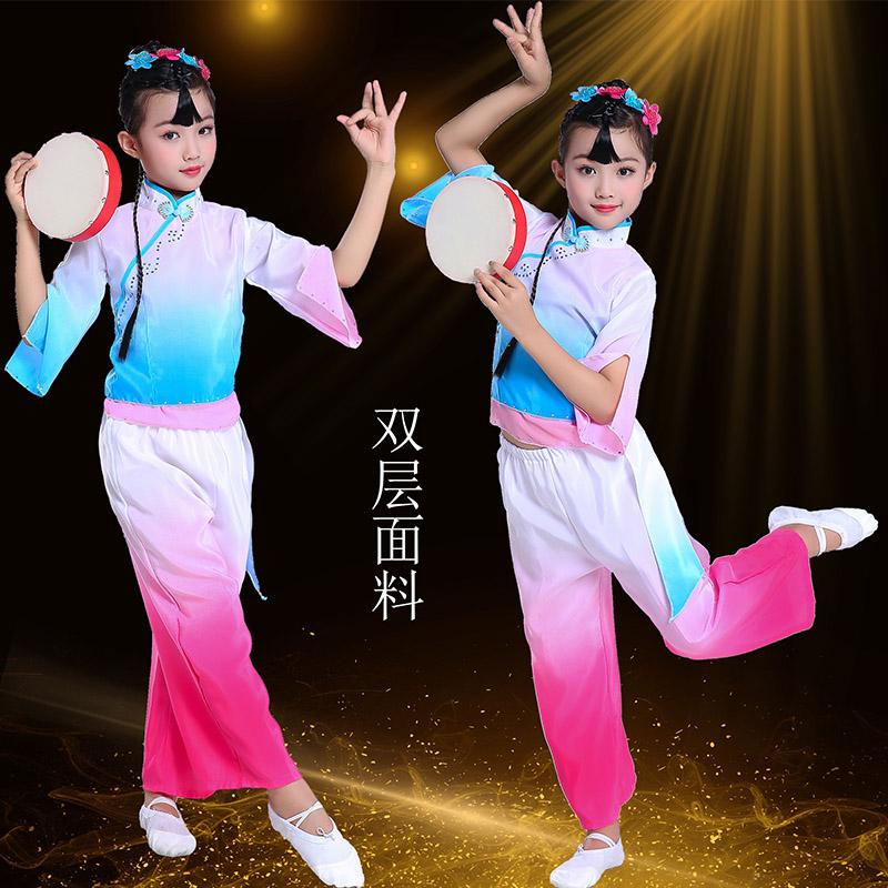 Phong cách thứ chín của trẻ em Xiaohe mong muốn hàng tháng quần áo khiêu vũ Quần áo trẻ em biểu diễn hàng tháng mong muốn khiêu vũ cổ điển Trang phục ngày tết - Trang phục