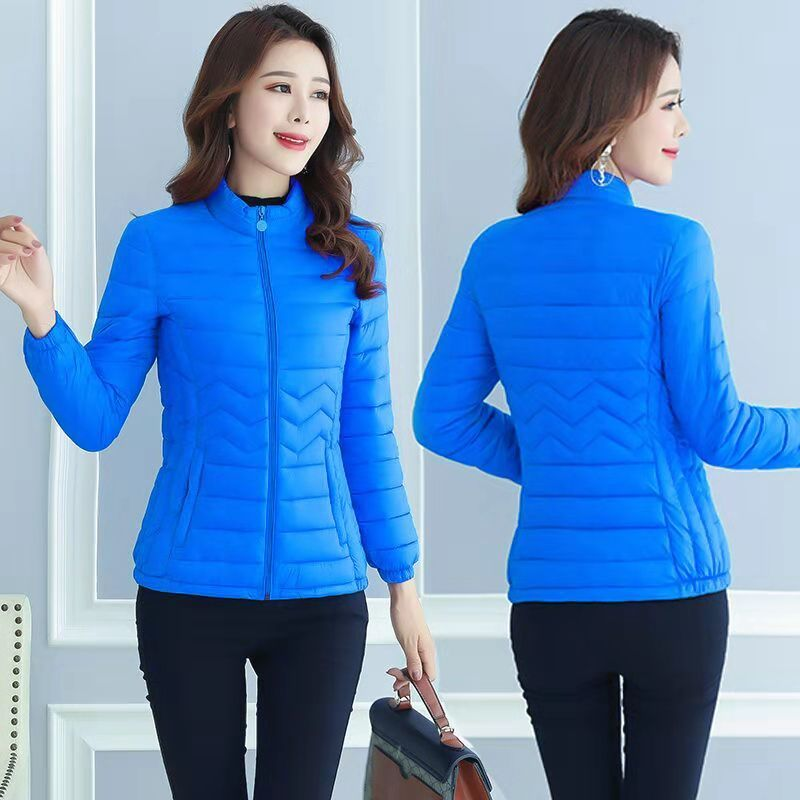 Light and thin down cotton padded jacket for women short and thin cotton padded jacket for middle-aged mother autumn and winter coat 2019 NEW