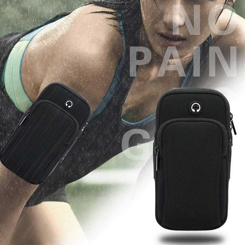Sports mobile phone arm bag running arm sleeve mens and womens general fitness arm outdoor wrist bag strap type waterproof bag